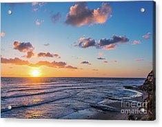 Sunset At Swami's Beach  Acrylic Print