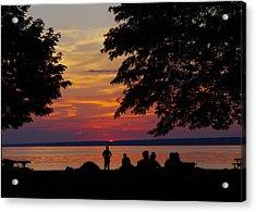 Sunset At Sylvan Beach Acrylic Print