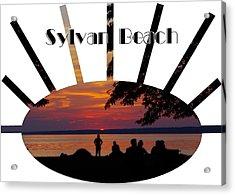 Sunset At Sylvan Beach - T-shirt Acrylic Print