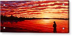 Sunset At The Bay Acrylic Print by Douglas Keil