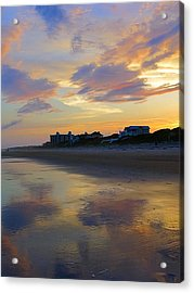 Sunset At The Beach Acrylic Print