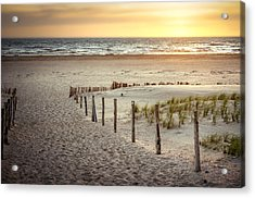 Acrylic Print featuring the photograph Sunset At The Beach by Hannes Cmarits