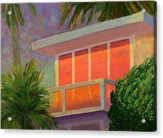 Sunset At The Beach House Acrylic Print by Karyn Robinson