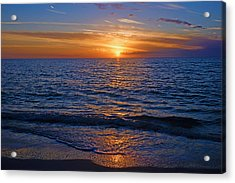 Sunset At The Beach In Naples, Fl Acrylic Print