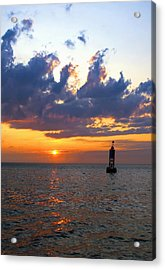 Sunset At The Bell Buoy Acrylic Print