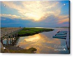 Sunset At The Boardwalk Acrylic Print