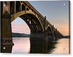 Sunset At The Columbia - Wrightsville Bridge Acrylic Print