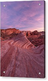 Acrylic Print featuring the photograph Sunset At The Fire Wave by Patricia Davidson