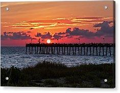 Sunset At The Fishing Pier   -   Fishingpier121662 Acrylic Print