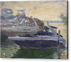 Sunset At The Harbor Acrylic Print