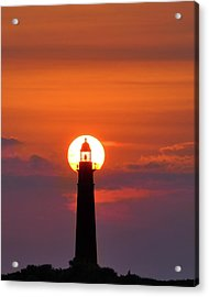 Sunset At The Lighthouse Acrylic Print