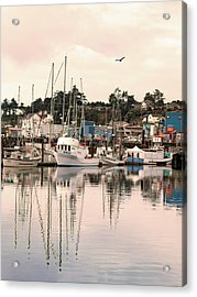 Acrylic Print featuring the photograph Sunset At The Marina by Diane Schuster