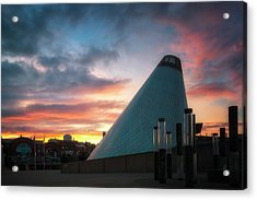 Sunset At The Museum Of Glass Acrylic Print