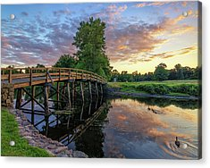 Sunset At The Old North Bridge Acrylic Print