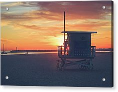 Sunset At Toes Beach Acrylic Print