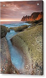 Sunset At Tungeneset Acrylic Print by Alex Conu