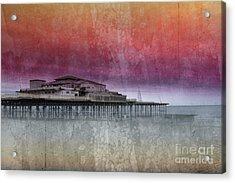 Sunset At Victoria Pier Acrylic Print