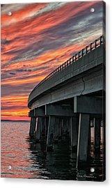 Sunset At Virginia Dare Memorial Bridge 4854 Acrylic Print