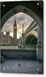 Sunset At Westminster Acrylic Print