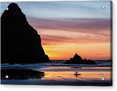 Sunset At Whalehead Beach Acrylic Print