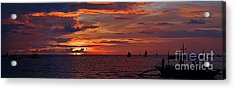 sunset at White Beach Acrylic Print