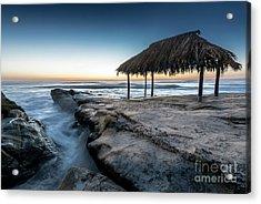 Sunset At Windansea Beach Shack Acrylic Print