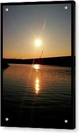 Sunset At Wolf Creek Dam Acrylic Print by Amber Flowers