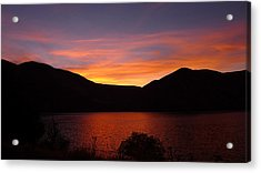 Acrylic Print featuring the photograph Sunset At Woodhead Campground  by Joel Deutsch