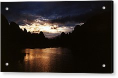 Sunset At Yangshuo In China Acrylic Print by Gosta Eger