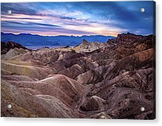 Sunset At Zabriskie Point In Death Valley National Park Acrylic Print