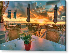 Sunset At Zandvoort Acrylic Print