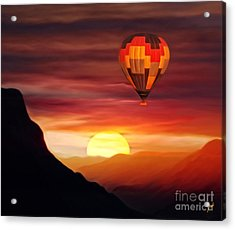 Sunset Balloon Ride Acrylic Print