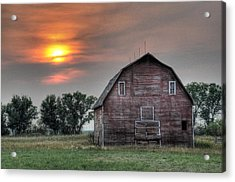 Sunset Barn Acrylic Print