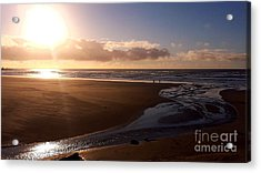Sunset - Bastendorff Beach Acrylic Print