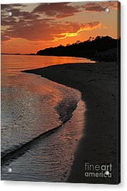 Sunset Bay Acrylic Print by Lori Mellen-Pagliaro