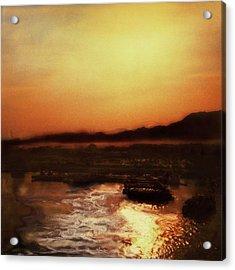 Sunset Bay  Acrylic Print by Paul Tokarski
