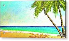 Sunset Beach #373 Acrylic Print by Donald k Hall