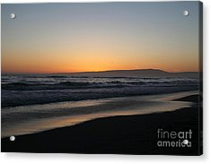 Sunset Beach California Acrylic Print by Amanda Barcon