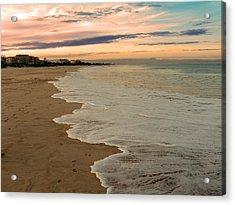Acrylic Print featuring the photograph Sunset Beach by Riana Van Staden