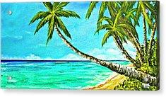 Sunset Beach#370  Acrylic Print by Donald k Hall
