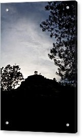 Sunset Behind The Hill Acrylic Print by Charlie Osborn