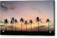 Sunset Behind The Palms Acrylic Print