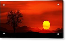 Sunset Acrylic Print by Bess Hamiti