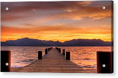 Sunset Bliss Acrylic Print by Brad Scott