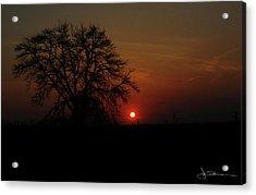 Sunset Bloody Sunset Acrylic Print
