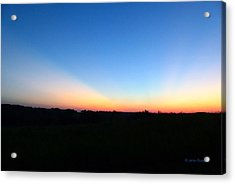 Acrylic Print featuring the digital art Sunset Blue by Jana Russon
