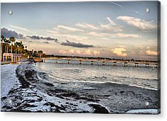Sunset Blues Acrylic Print by Rose  Hill