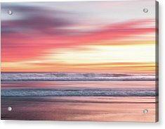 Acrylic Print featuring the photograph Sunset Blur - Pink by Patti Deters