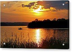 Sunset Boater, Smith Mountain Lake Acrylic Print