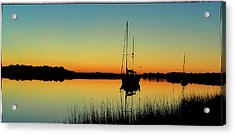 Sunset Bowens Island Acrylic Print
